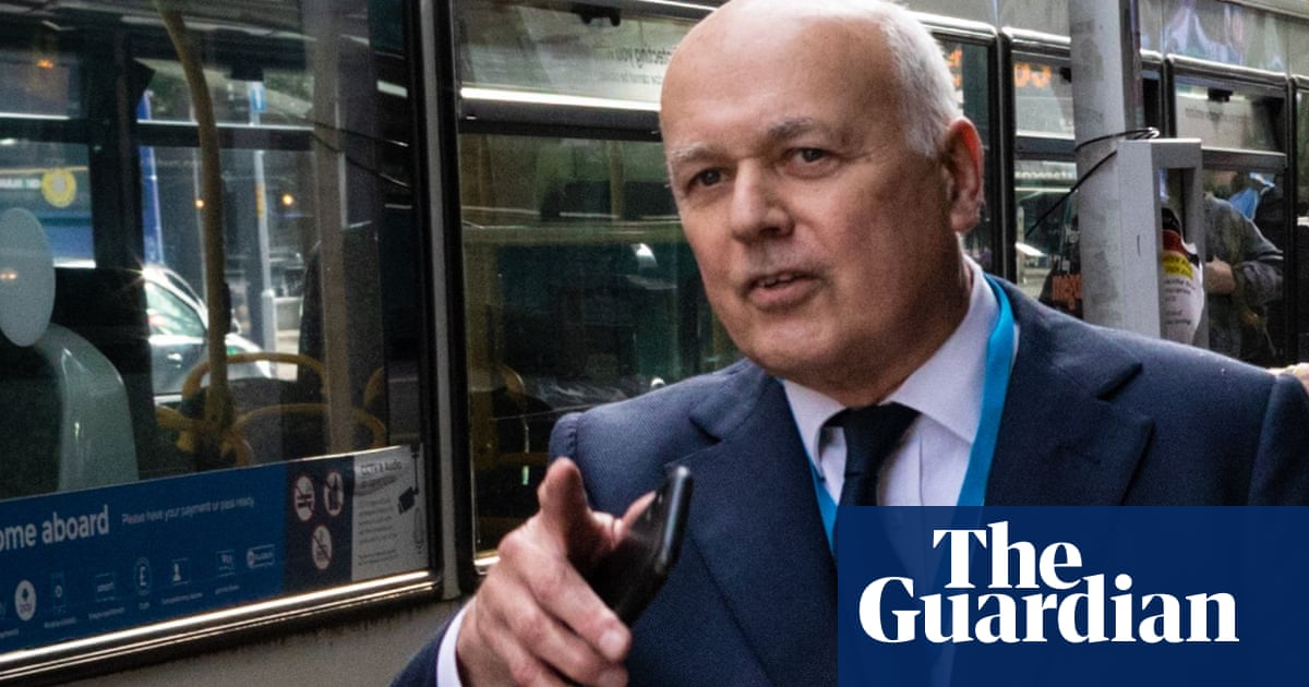 Five arrested after Iain Duncan Smith 'hit on head with traffic cone'