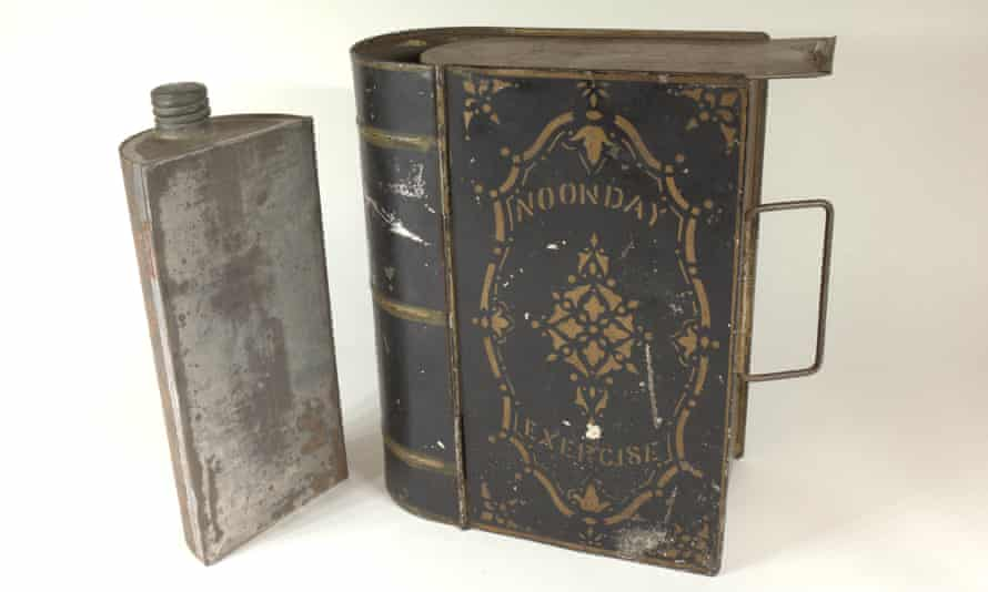 A lunchbox that looks like a book titled Noonday Exercise -- circa 1875 -- is among the 'blooks' on display at the Grolier Club this month in Manhattan.