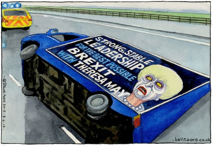 Steve Bell cartoon 08.06.17
