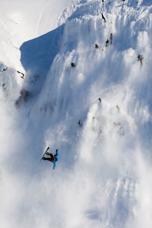 Snowboarder takes extreme crash in massive avalanche.