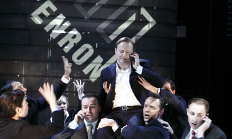 Samuel West as Jeffrey Skilling in the original production of Enron at the Minerva Theatre, Chichester.