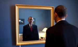 """WARNING: Embargoed for publication until 00:00:01 on 08/03/2016 - Programme Name: Inside Obama's White House - TX: 16/03/2016 - Episode: Norma Percy on Obama (No. 1) - Picture Shows: Jan. 20, 2009 """"President-elect Barack Obama was about to walk out to take the oath of office. Backstage at the U.S. Capitol, he took one last look at his appearance in the mirror."""" President Barack Obama - (C) The White House - Photographer: PETE SOUZA"""
