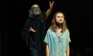 Paul Brennen as Euripides with Isabella Nefar in the title role of Jude.