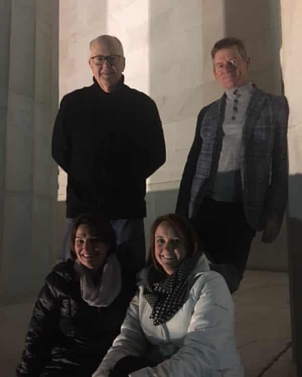 Michael Smith, Jim Simmons, Cyndi Festa and Beth Laliberte at Lincoln Memorial in Washington.