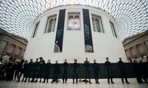 Anti-BP demonstrators at the British Museum