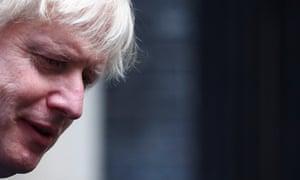 Boris Johnson leaves Downing Street in London