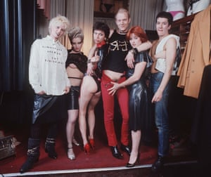 Corré's mother, Vivienne Westwood (pictured far left), in punk days at the Sex shop on King's Road, London, 1976.