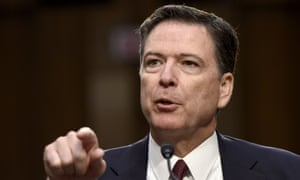 Former FBI director James Comey testifying before the US Senate select committee on intelligence in October.