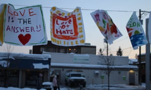 Downtown Whitefish on Martin Luther King Day was decorated with messages of love.