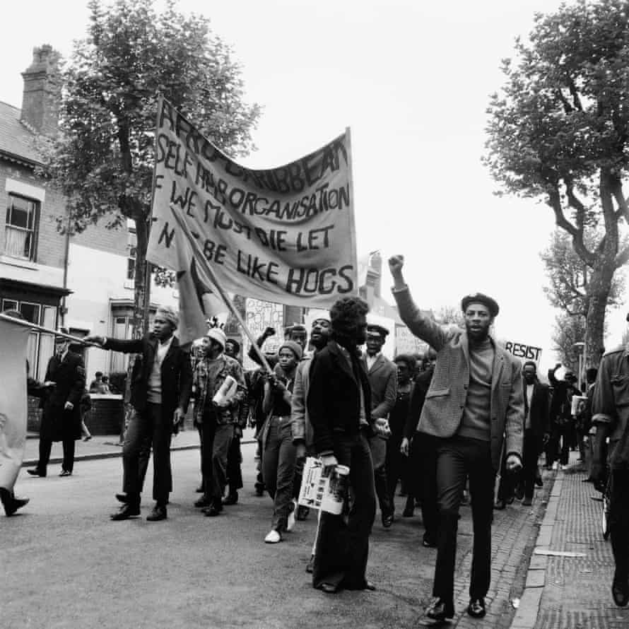 Protesting in Birmingham against racism and police brutality. c.1972