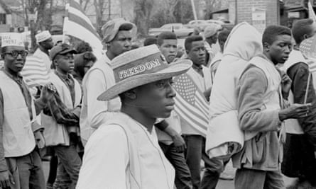 A man at the Selma to Montgomery marches held in support of voter rights, Alabama, late March, 1965.
