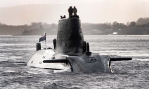 HMS Astute, one of the British Royal Navy's nuclear hunter killer submarines