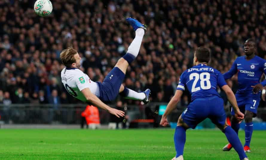 Harry Kane was an ever-present threat for Spurs against Chelsea in their semi-final.