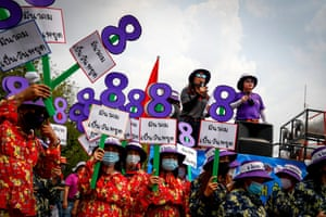 Thailand Protesters rallied outside the Government House and education ministry in Bangkok, demanding better maternity leave and better and fairer working conditions.