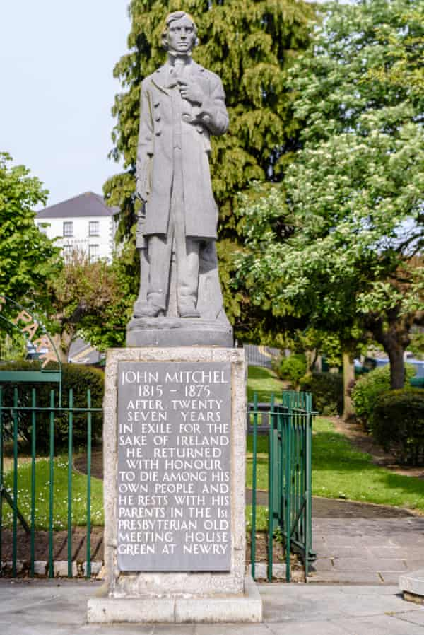 The statue of John Mitchel, an Irish nationalist hero who supported slavery.