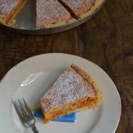 Rachel Roddy's almond tart.