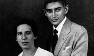 Franz Kafka with his fiancee Felicita Bauer in 1917.