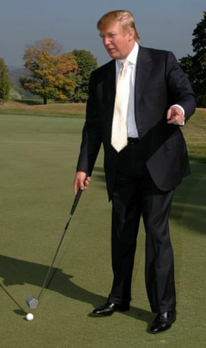 Donald Trump at the Trump National Golf Club in Briarcliff Manor, Westchester County, New York.