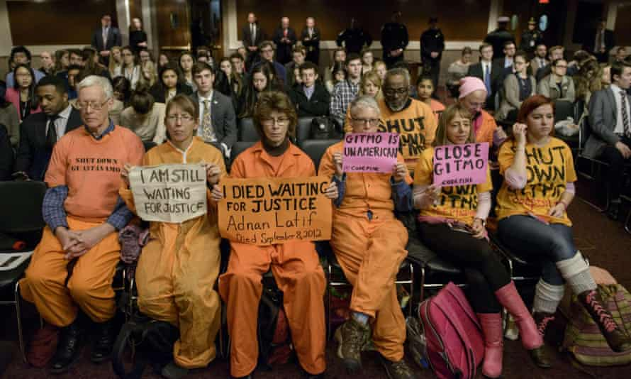 guantanamo protesters senate armed services committee