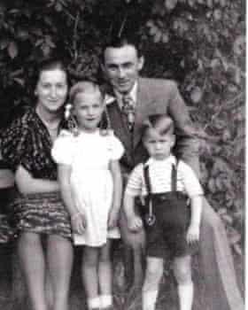 The Sebald family in 1947.