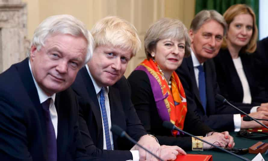 Theresa May and cabinet colleagues