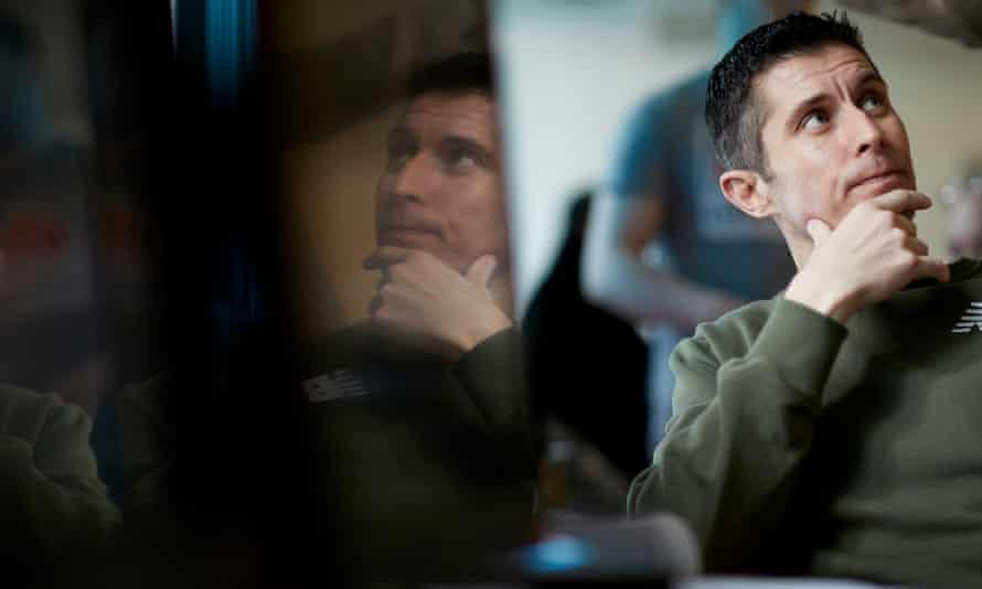 Prisoner Mark Robinson at a computer coding workshop in HMP Holme House.