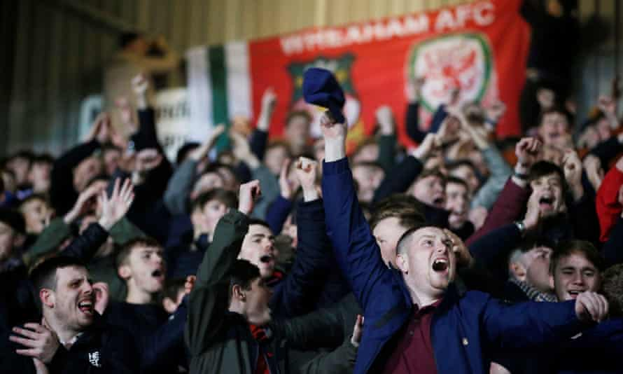 Wrexham fans at the Racecourse Ground back in 2018.