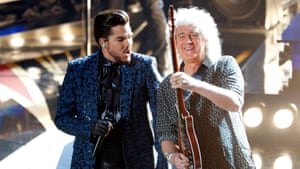 Adam Lambert and Brian May of Queen open the 91st Academy Awards ceremony.