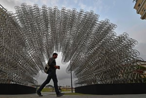 The installation Forever Bicycles in Rio de Janeiro.