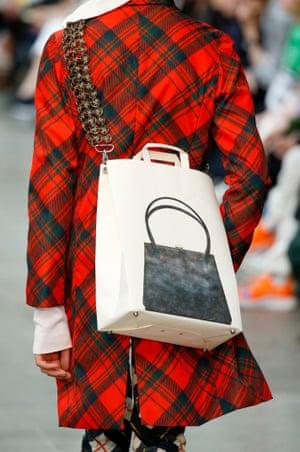 Stefan Cooke bag-on-bag print for Fashion East MAN at London Fashion Week Men's 2018.