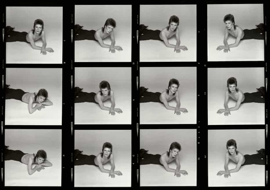 A contact sheet from the Diamond Dogs shoot.