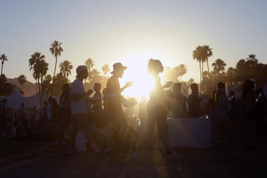 Coachella at dusk, before 'lockdown' commences.