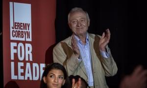 Former London mayor Ken Livingstone speaks in support of Corbyn.