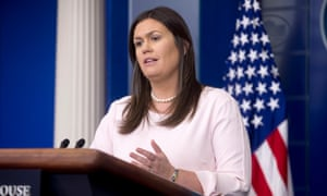 Sarah Sanders: 'Anyone responsible will be held accountable to the fullest extent of the law.'