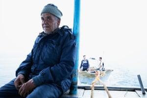 Fisherman Abu Ashraf, 65, sets off with his crew on a fishing trip