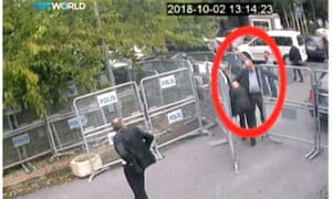 New CCTV footage obtained by a Turkish broadcaster shows Khashoggi entering the Saudi consulate on 2 October.