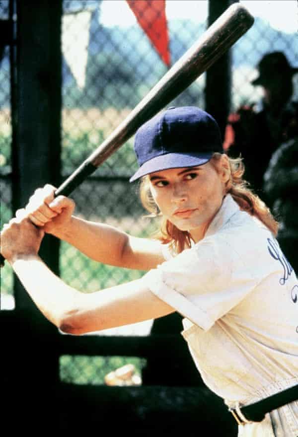 Geena Davis as Dottie in 1992 film A League of Their Own.