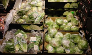Salad stuff wrapped in plastic in a UK supermarket