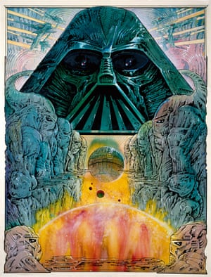 Star Wars (1977) Poster concept by legendary French artist Philippe Druillet, co-founder with Moebius of Métal hurlant magazine