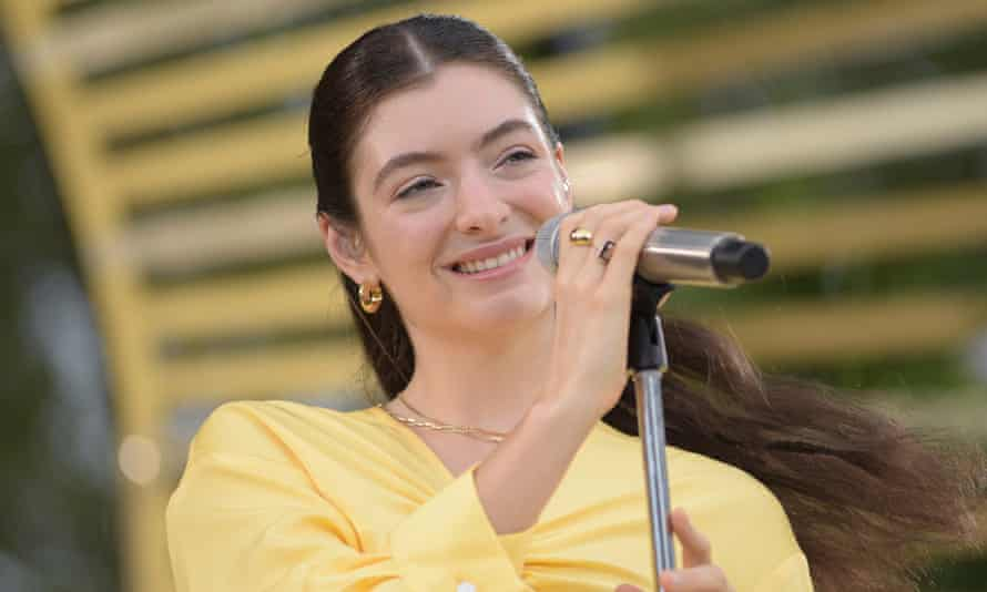 New Zealand pop start Lorde performs live from Central Park in New York City on Good Morning America
