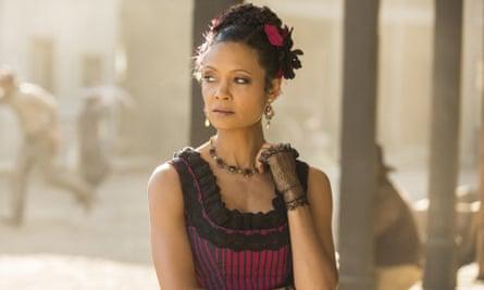 Thandie Newton in Westworld.