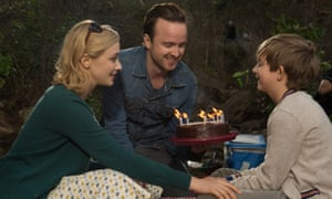 Sarah Gadon, Aaron Paul and Aiden Longworth in The 9th Life of Louis Drax (2015) Directed By Alexandre Aja.