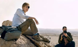 Real facts, real news … Rosamund Pike as Marie Colvin in A Private War.