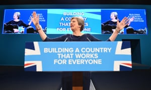 Prime Minister Theresa May delivers her speech on the final day of Conservative Party Conference in Manchester.