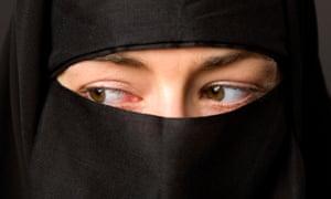 A Muslim woman in a hijab.
