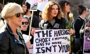 Protesters take part in last September's March for Choice in Dublin.
