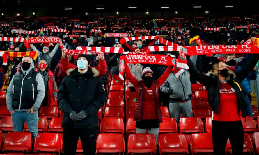 Two thousand Liverpool supporters were able to watch their home game against Wolves in December.