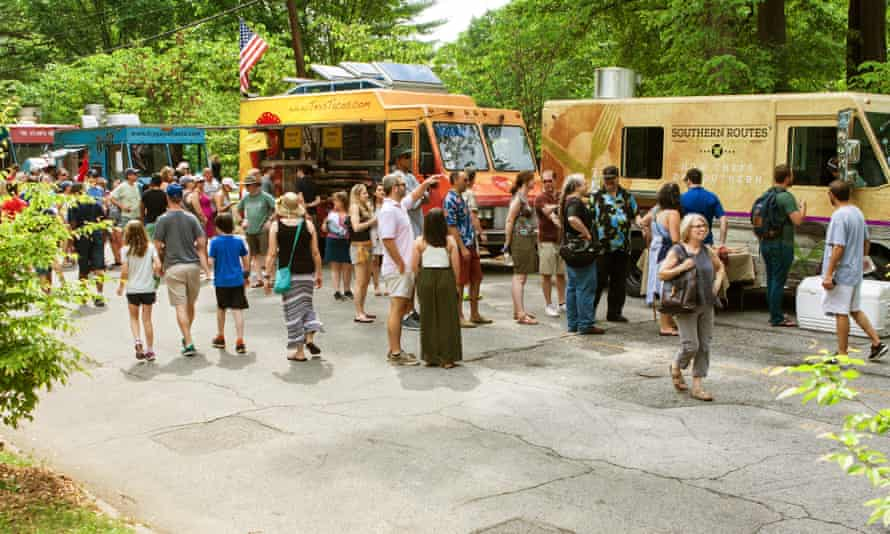 Southern comfort … food trucks at the Inman Park Festival.
