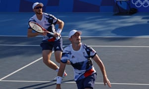 Neal Skupski (right) and Jamie Murray in action during their first round victory over Andres Molteni and Horacio Zeballos of Argentina.gar Su