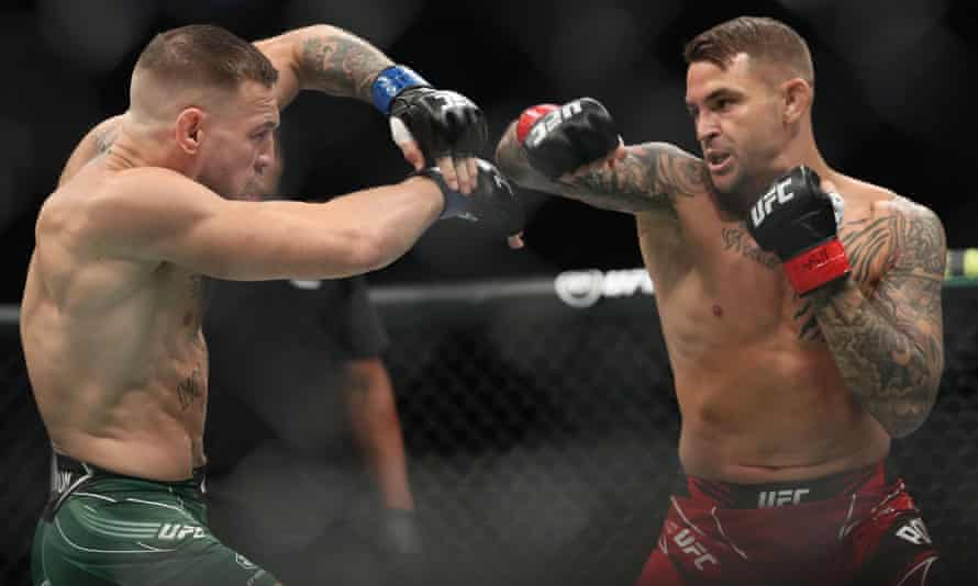 UFC 264: McGregor humbled by Poirier in one to cap trilogy as Trump looks on | UFC | The Guardian